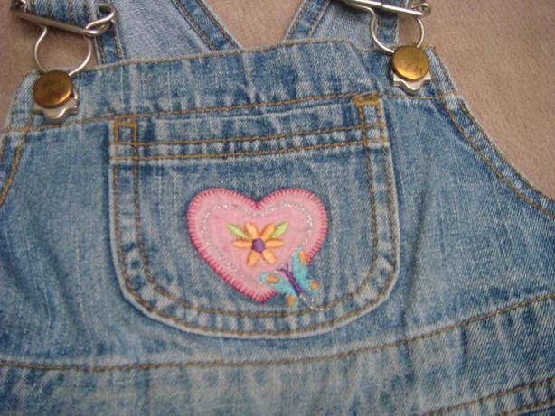 spódnica ogrodniczka jeans / tunika dla dziewczynki 3 / 4 lat