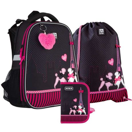 Школьный набор рюкзак + пенал + сумка Kite Weekend in Paris K21-531M-3