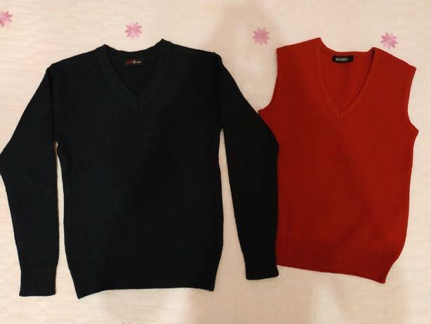 Жилет и свитер в школу, унисекс, 1-3 класс