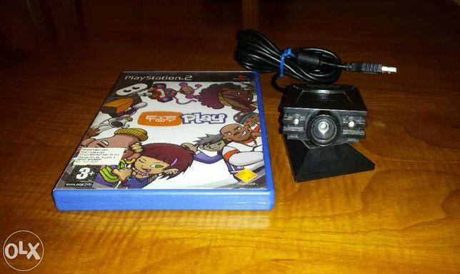 Vendo videojogo EYE TOY PLAY usado para Playstation 2 mais câmara EYE