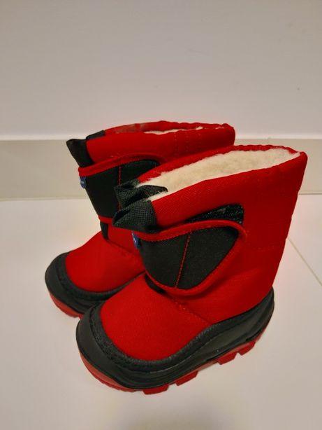 Buty dziecięce zimowe śniegowce rozmiar 21-22 firmy Muflon