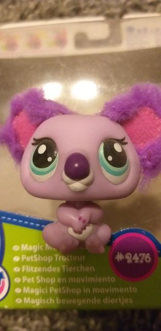 Fioletowa panda futrzaste uszy Pet Shop