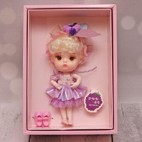 Lalka bjd 1/12 ob11 blond włosy fioletowe ubranko