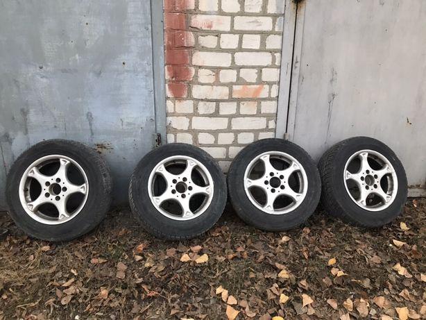 Диски Mercedes с зимней резиной Dunlop