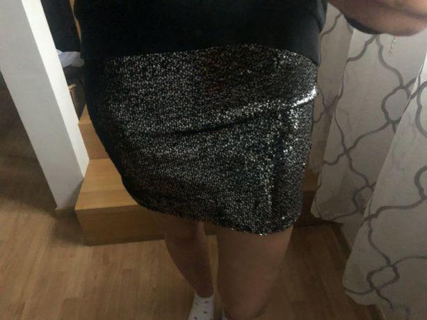 Cekinowa spódnica Forever21, spódnica z cekinami