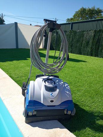 Robot piscina electrico KRIPSOL- limpafundos, parede e superfície água