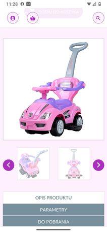 Różowy jeździk auto