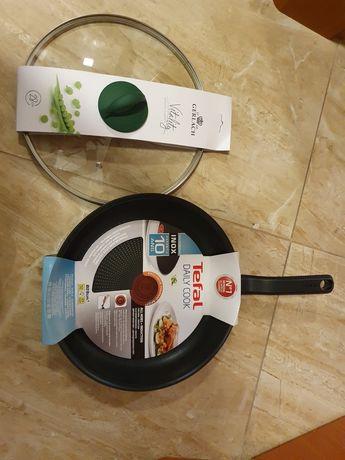 Patelnia 28 cm TEFAL Easy Chef + pokrywka