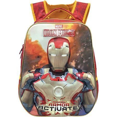 Школьный рюкзак Железный человек, светящиеся глаза и круг-реактор NEW