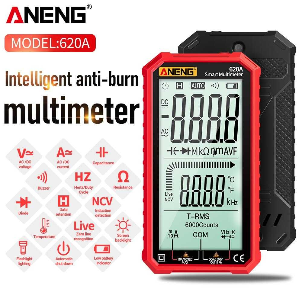 "Multímetro digital  Inteligente True RMS - LCD 4,7""  Novo c/ Garantia"