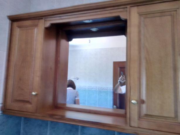 Movel com espelho em madeira
