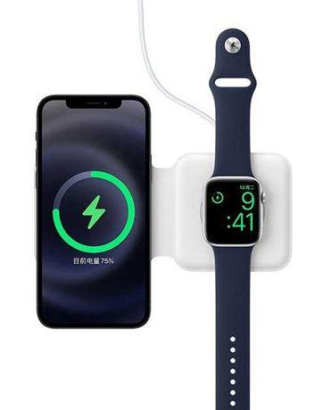Двойное беспроводное зарядное устройство MagSafe DUO, зарядное iPhone