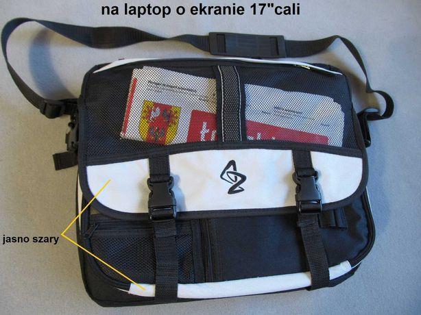 """NOWA duża torba do laptopa 17"""" cali na ramię do biura pracy"""