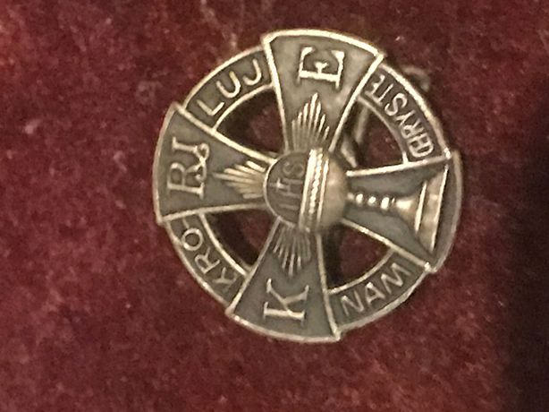 Plakietka katolicka Króluj Nam Chryste