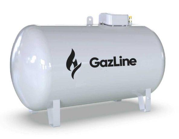 Zbiornik gaz propan LPG. Gazowa instalacja zbiornikowa dostawy. Butla.