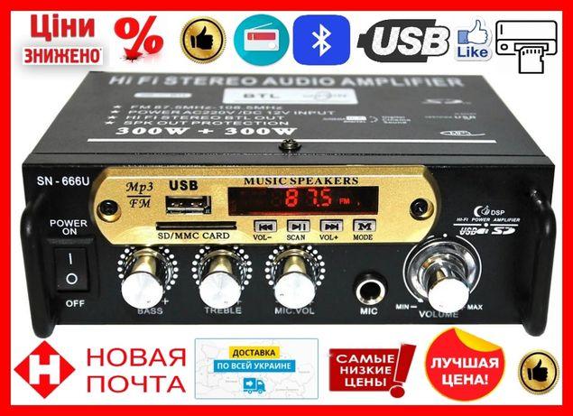 Усилитель AMP SN-666 BT портативный усилитель мощности звука