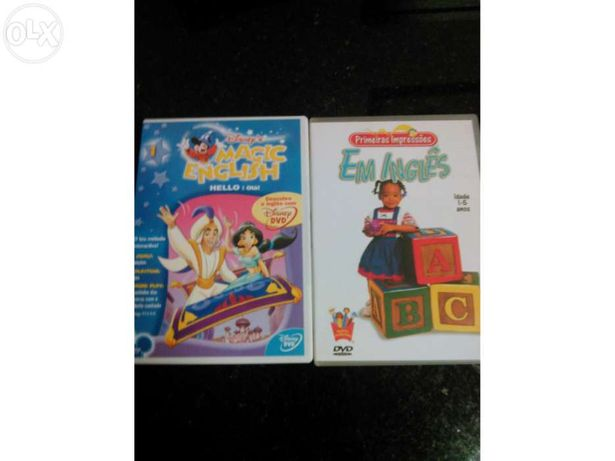 2 Dvds aprende Inglês