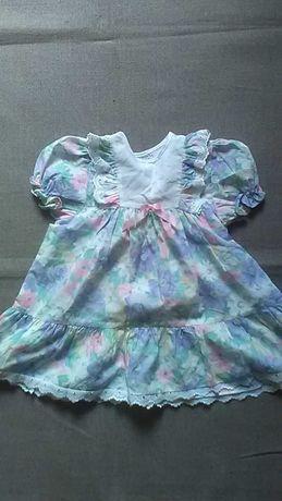 Нарядное легкое летнее новое платье для девочки 1-1,5 года