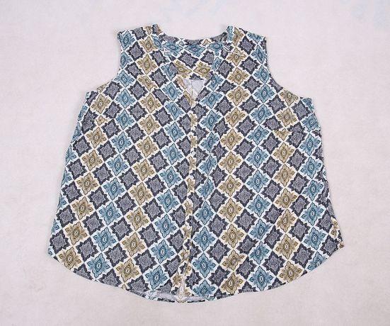 Bluzka w ornament orientalny wzór etno boho 54 56