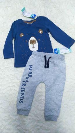 Комплект лонгслив и штаны джогеры Pepco р.80 для мальчика