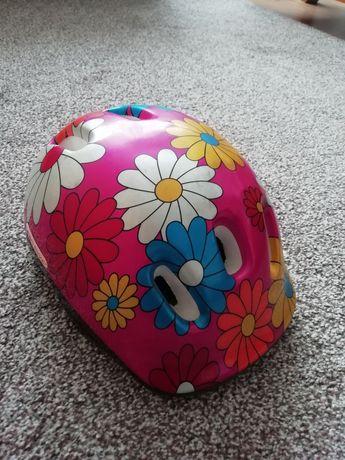 Kask rowerowy dziecięcy w kwiatki