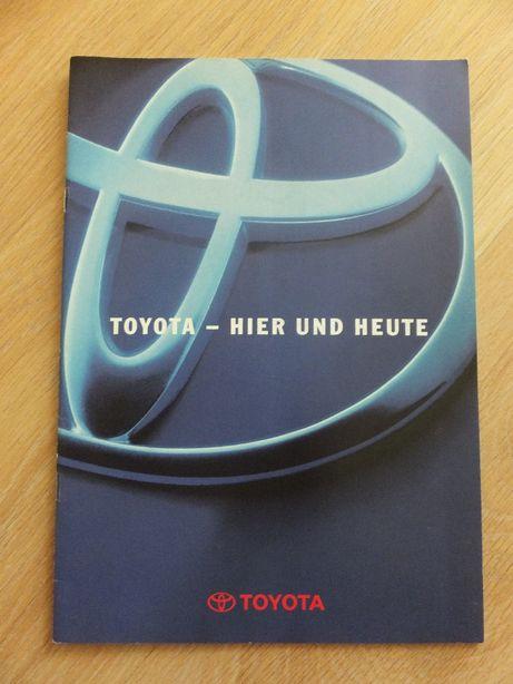 Prospekt Toyota Corolla, Carina, Camry, Celica, Supra itd