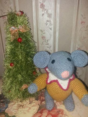 Подарки ручной работы,вязаная игрушка, мышка,новый год, ёлочка,поделки