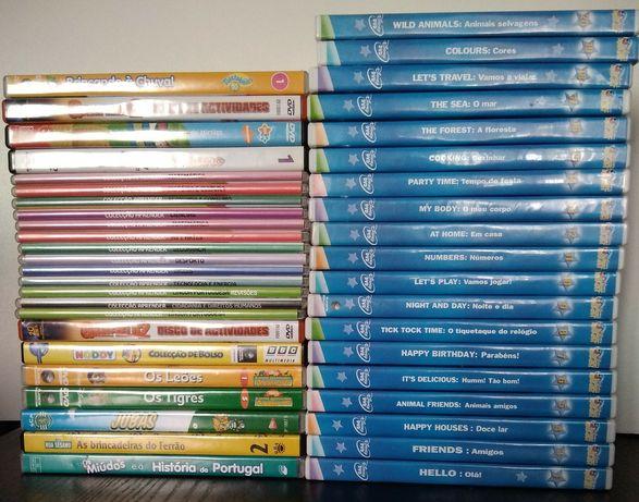 47 DVD infantis / didáticos