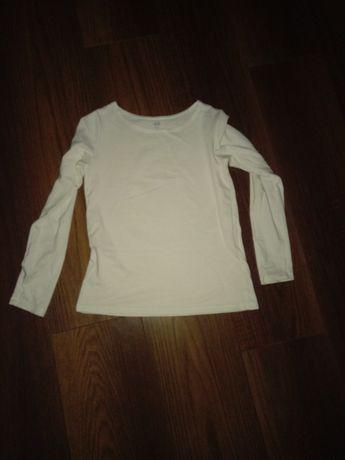 Biała bluzeczka z dlugim rękawem h&m