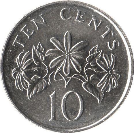 10 cent 1988 singapur ,20 cent 1990 r. Singapur Nr.22