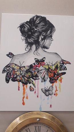 """Картина  """"Нежность бабочки""""."""