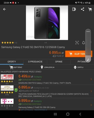 Samsung Z Fold 2 zamiana na gwarancji