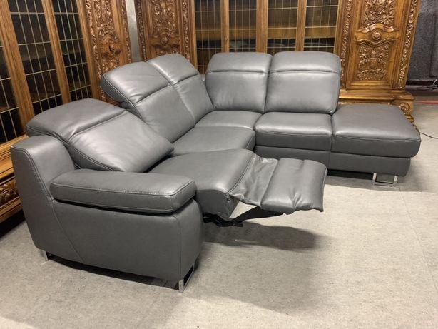 Кожаный диван реклайнер уголок кожа Кутовий диван шкіра Диван кожа