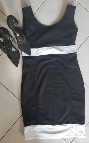 M/L spódnica sukienka tunika denim dżinsowa sportowa taliowana