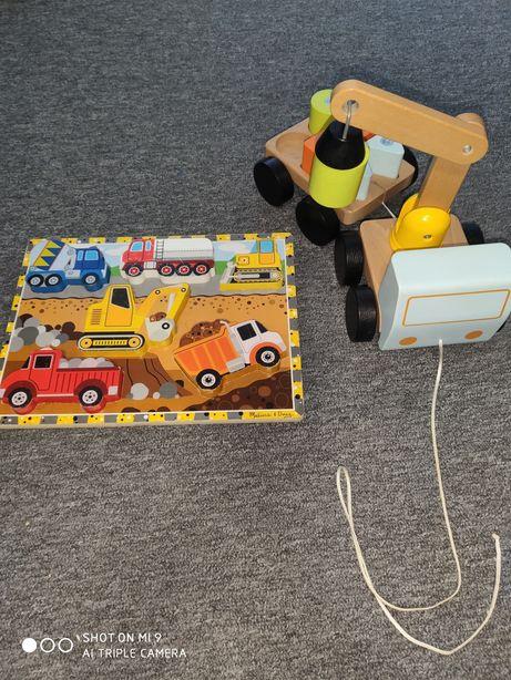 Zestaw drewnianych zabawek