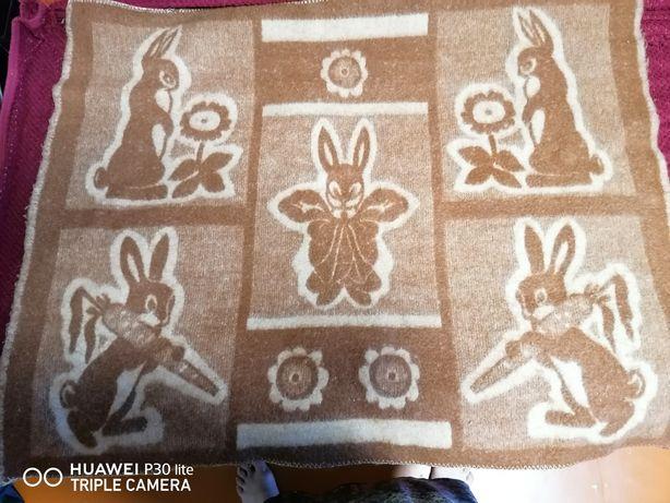 Одеяло шерстяное детское + подарок