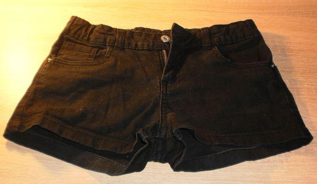 Короткие джинсовые черные шорты Page One Young