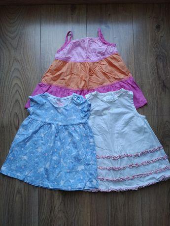 Sukienki letnie 3 szt. Dla dziewczynki, rozm 68/74