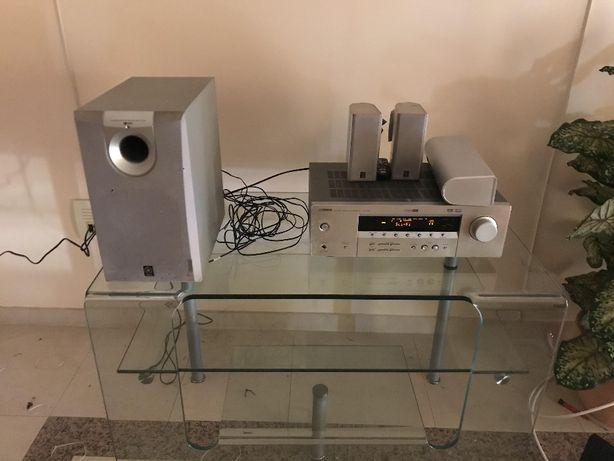 Amplificador com home cinema 5.1 Yamaha