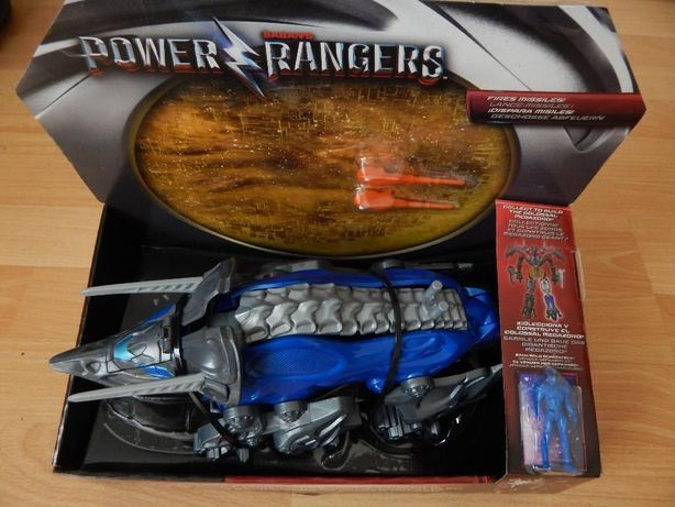 Power Rangers Triceratops Battle Zord With Blue Ranger Figure COBI