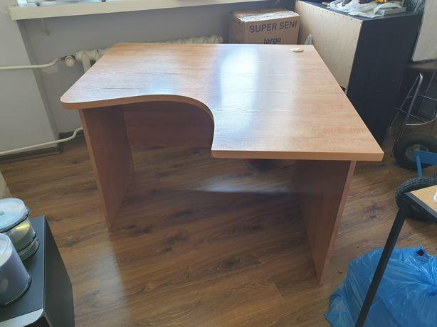 Duże biurko narożne komputerowe, stół narożny