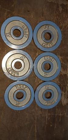 Obciążenia  1.25kg chromowane fi 31mm 6szt