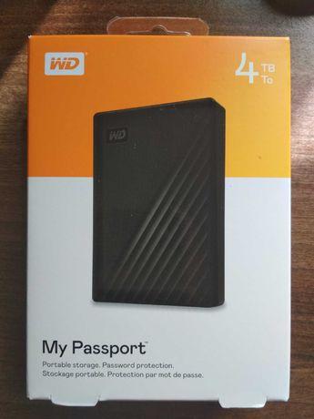 "Жесткий диск WD 2.5"" USB 3.2 4TB My Passport Black WDBPKJ0040BBK-WESN"
