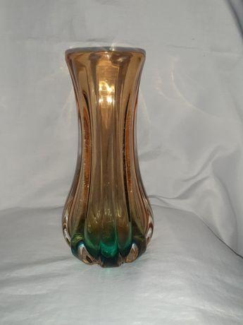 Радянська колекційна ваза з гутного скла, дуже важка
