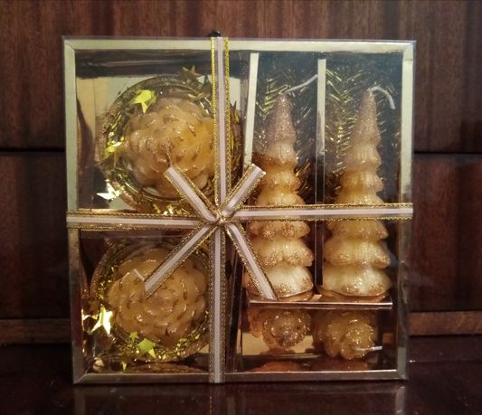 Набір свічок для новорічного декору
