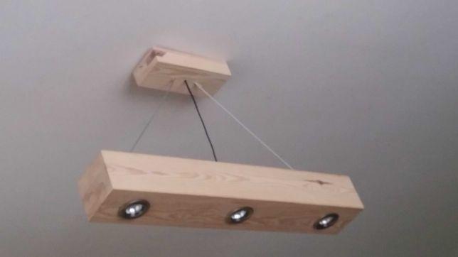 Nowy Drewniany żyrandol, lampa wiszącą z drewna.