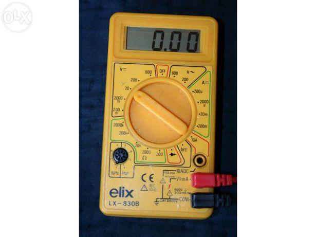 Multimetro digital elix lx-830b