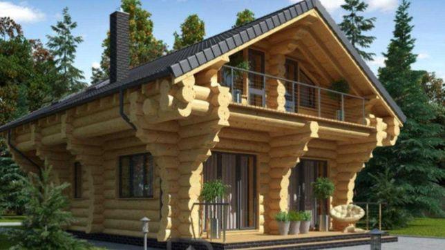 Domki, domy z drewna, technologia Rosyjska - Świerk Syberyjski