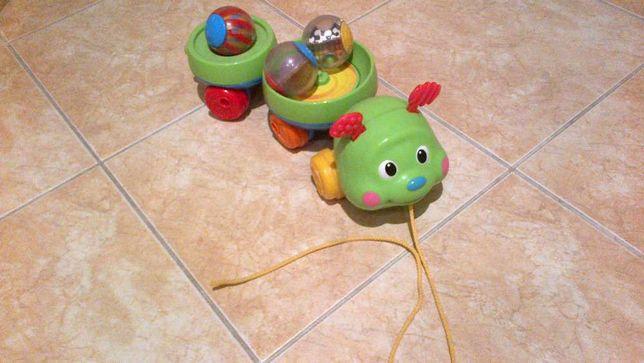 zabawka dżdżownica z kulami kolorowymi