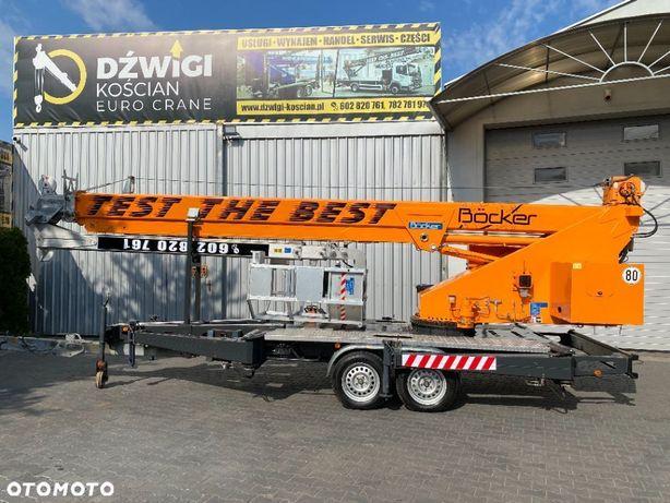 Bocker AHK 30/1600  Dźwig dekarski żuraw ciesielski budowlany Bocker AHK 30/1600 z koszem
